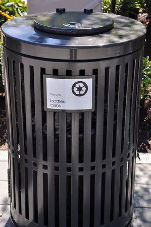 Close-up recycling bins Stock Photo - 8005037