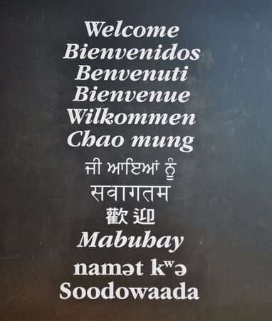 welcome the text in multilanguage