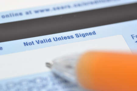Sign your credit card