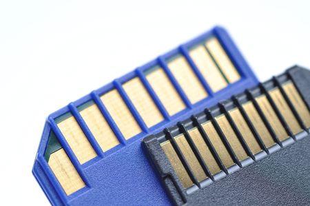 Close-up memory cards  Stock Photo