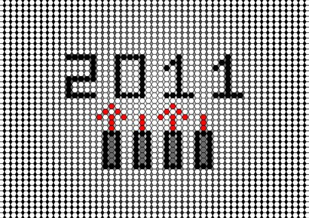 2011 poster  Stock Photo - 8122939