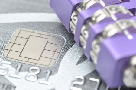 Abstract lock your credit card Stock Photo - 8184769