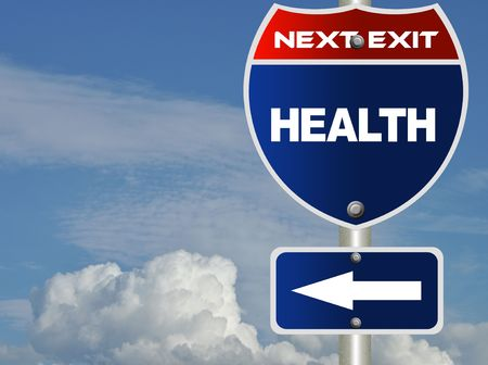 Health road sign Stock Photo - 8184765
