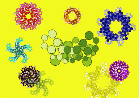 Abstract flower pattern background  photo