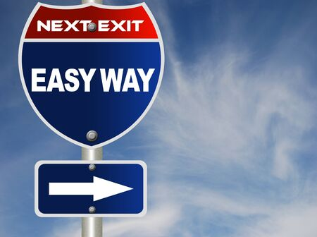 Easy way road sign Stock Photo - 8486153