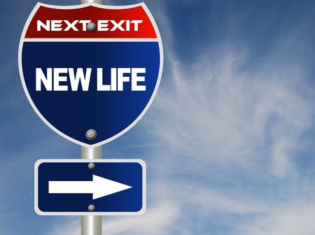 New life road sign Stock Photo - 8486152