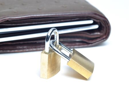 Locking your wallet  Stock Photo - 8525708