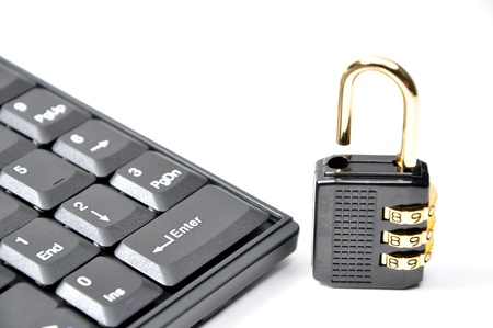 Lock your keyboard for security reason Stock Photo - 8549173