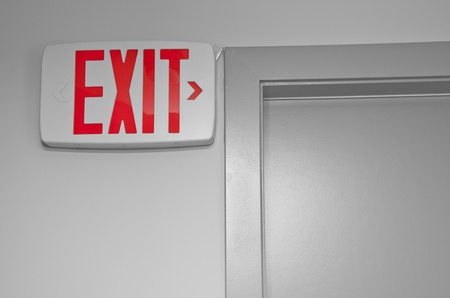 Exit sign for stairway  photo