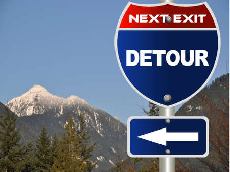Detour road sign Stock Photo - 8580728