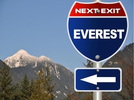Everest road sign  Archivio Fotografico