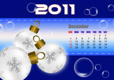 December of 2011 calendar  Stock Photo - 8603299