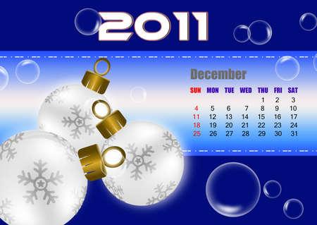 December of 2011 calendar Stock Photo - 8603299
