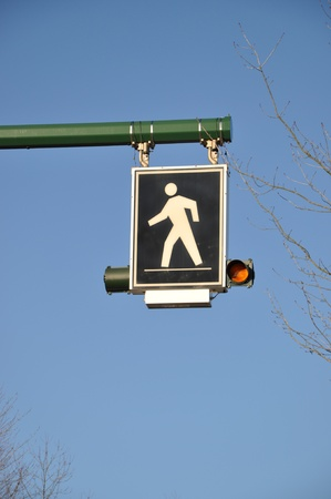 Pedestrian sign  photo