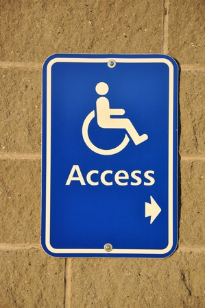 Disable access sign on wall  photo