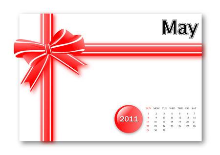 May of 2011 calendar  Vector