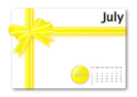 July of 2011 calendar  Vector