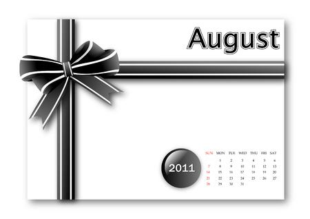 calendar: August of 2011 calendar
