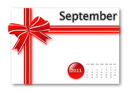 September of 2011 calendar  Illustration