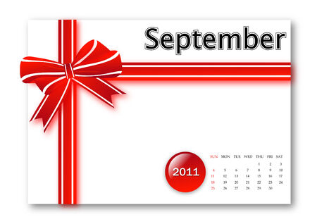 September of 2011 calendar  Vector