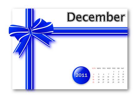 December of 2011 calendar  Vector