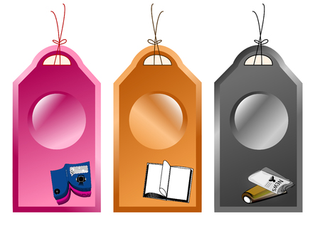 finite: Abstract recycle tags  Illustration