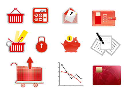 Business finance icon  Ilustração