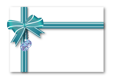 new year celebration: Blue gift bow