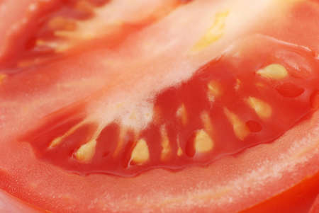 slice tomato: Macro fresh slice tomato Stock Photo