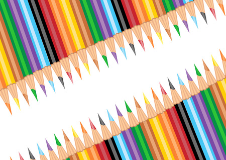 school border: Colorful pens background