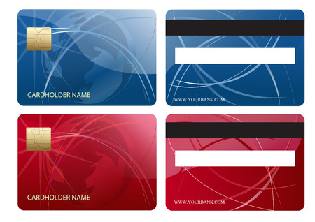 Abstract chip business credit card