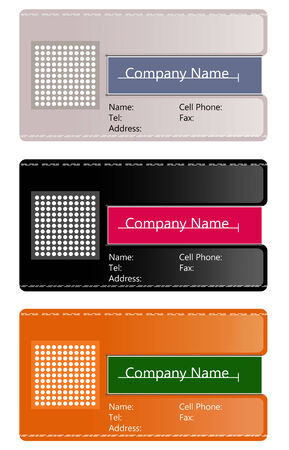 visitenkarte: Abstrakt Business-card Illustration