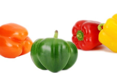 Fresh colorful peppers pattern