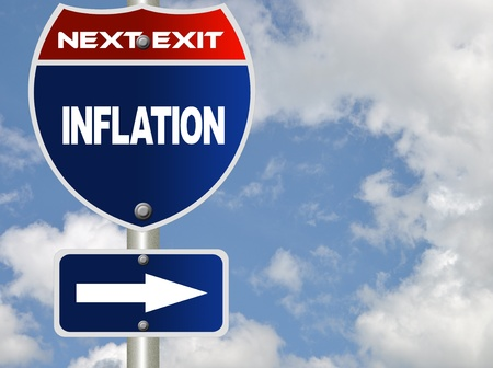 brighter: Inflation road sign