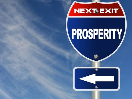 Prosperity road sign