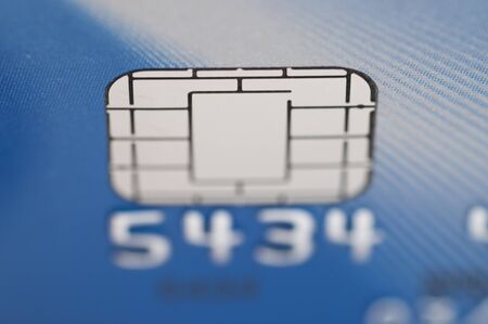 Close-up Business chip card photo
