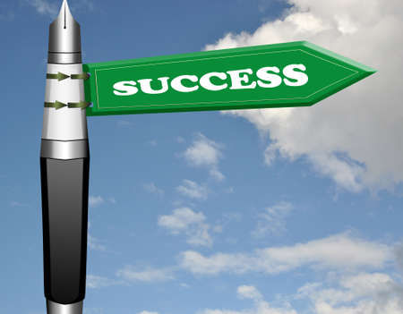 brighter: Success fountain pen road sign
