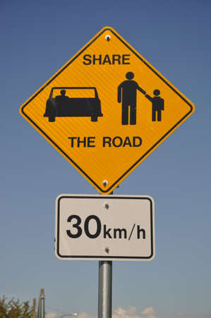 Share the with 30km limit road sign  photo