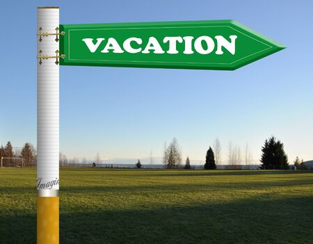 brighter: Vacation cigarette road sign
