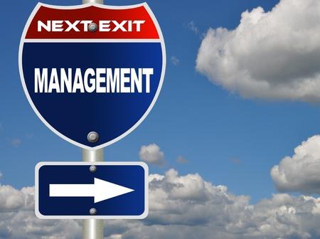 Management road sign  photo