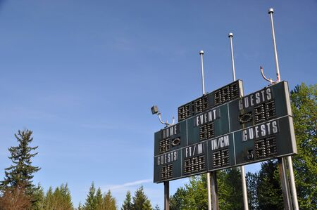 Score board at football stadium  photo
