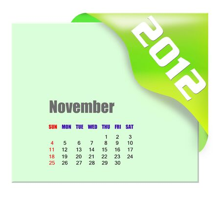 diary: November of 2012 calendar