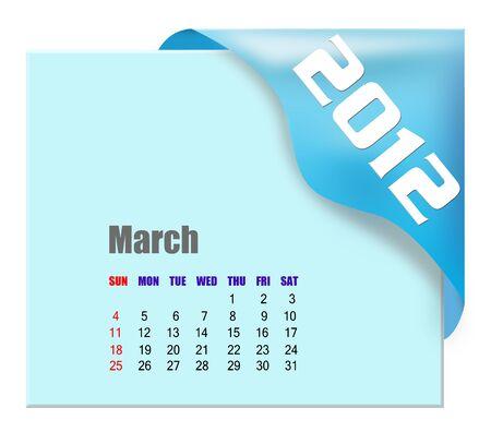 March of 2012 calendar  photo