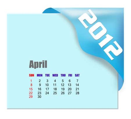 April of 2012 calendar  photo