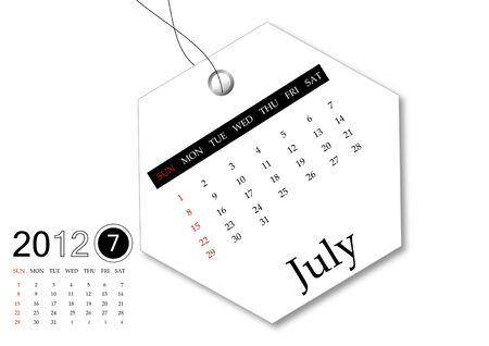 scheduler: July of 2012 calendar