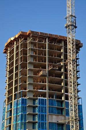 multi storey: Concrete Highrise Construction Site in Canada