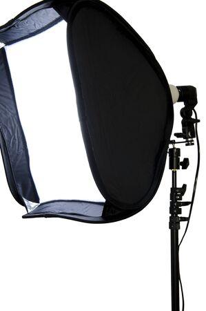 stripbox: Studio lighting isolated on the white background  Stock Photo