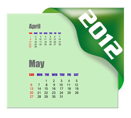 scheduler: May of 2012 calendar