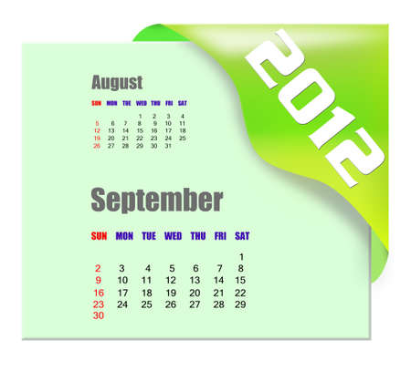 September of 2012 calendar  photo