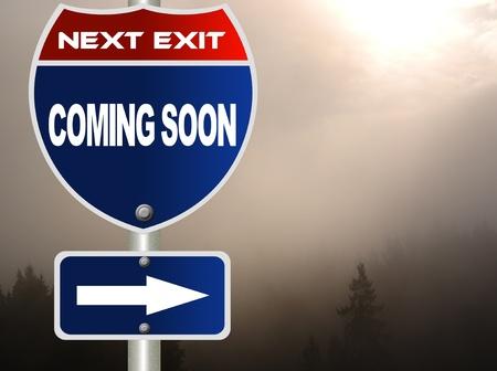 Coming soon road sign Stock fotó - 11472710
